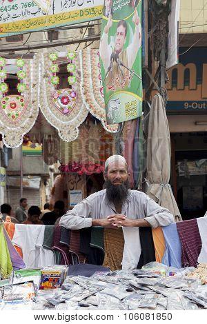 Street Vendor At Anarkali Bazaar In Lahore, Pakistan
