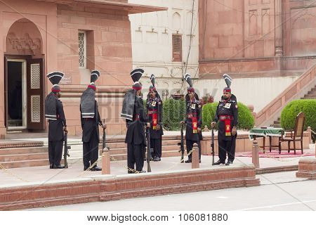 Guards At Badshahi Mosque