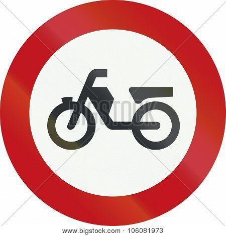 A Dutch Prohibition Sign - No Mopeds