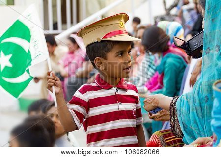 Pakistani Kid With Flag
