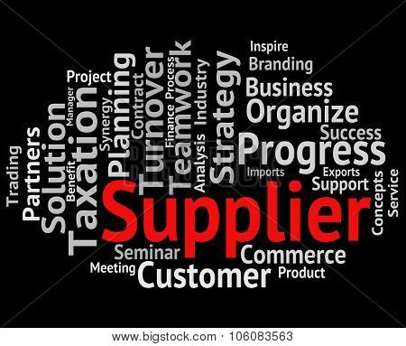 Supplier Word Shows Retailers Words And Trade