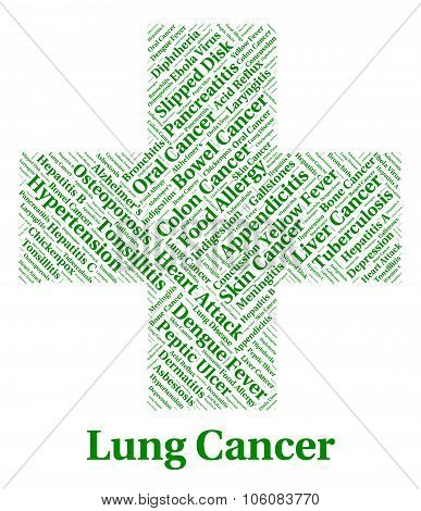 Lung Cancer Indicates Cancerous Growth And Affliction