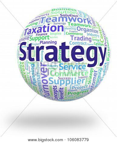 Strategy Word Represents Planning Strategies And Innovation