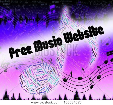 Free Music Website Shows With Our Compliments And Domains