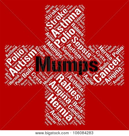 Mumps Word Means Poor Health And Ailments