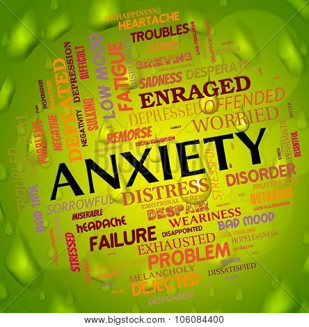 Anxiety Word Means Concern Words And Apprehension