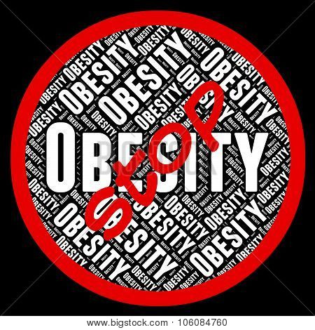 Stop Obesity Means Chunky Portliness And Chubbiness