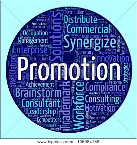 Promotion Word Means Wordcloud Sale And Discount