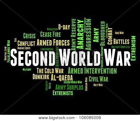 Second World War Means Skirmish Wordcloud And Word