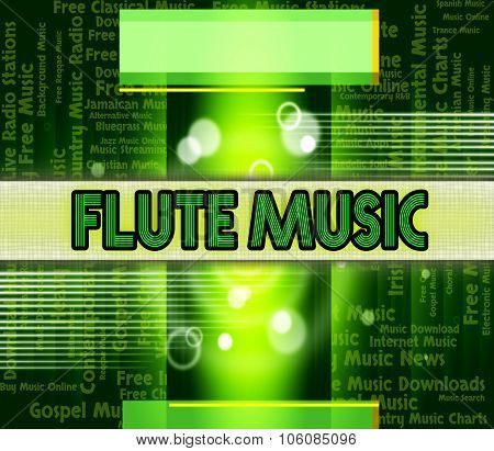 Flute Music Shows Sound Track And Acoustic