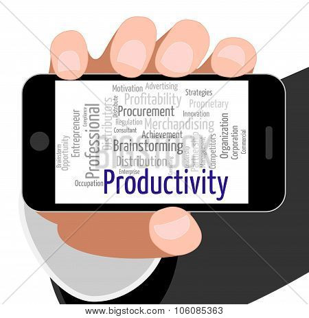 Productivity Word Means Effectivity Efficient And Text
