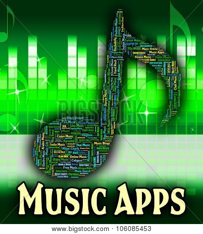 Music Apps Shows Sound Tracks And Acoustic