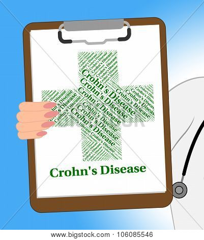 Crohn's Disease Shows Regional Enteritis And Abdominal