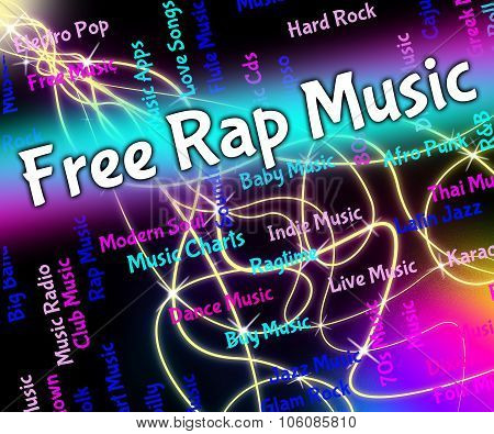 Free Rap Music Shows Spitting Bars And Audio