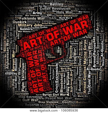 Art Of War Represents Business Strategy And Battles