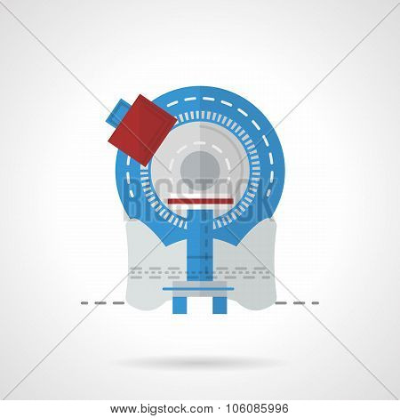 Tomography equipment flat color vector icon