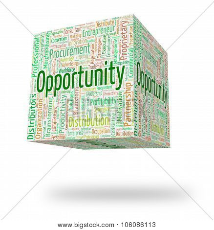 Opportunity Word Means Chances Wordcloud And Option