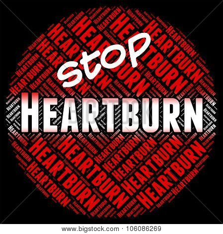 Stop Heartburn Shows Acid Indigestion And Control