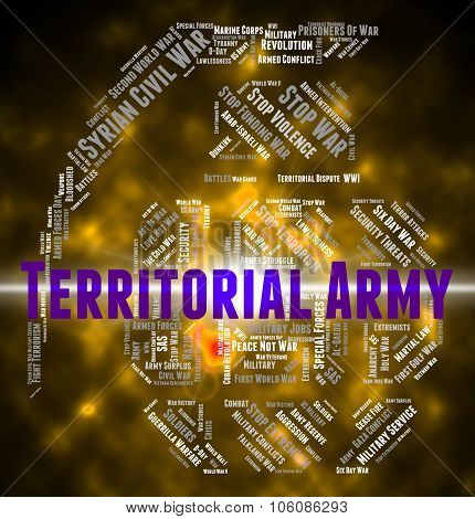 Territorial Army Indicates Military Action And Volunteer