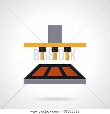 Ice cream equipment flat color vector icon
