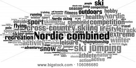 Nordic Combined Word Cloud