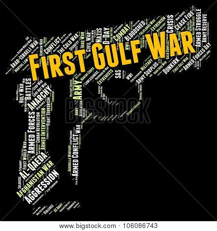 First Gulf War Shows Operation Desert Shield And Clash