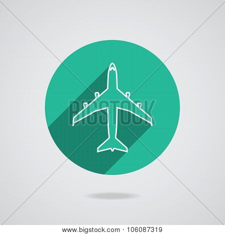 Airplanes Flat Icons