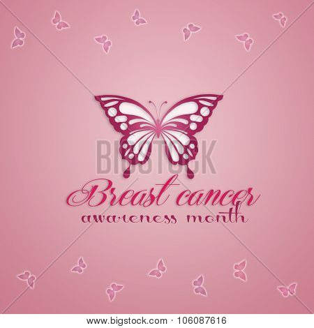 Pink Butterfly For Breast Cancer Prevention