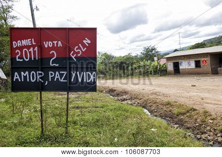 Electoral Campaign signs In Nicaragua