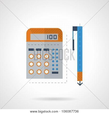 Mathematics flat color vector icon