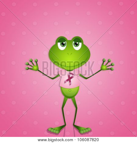 Funny Frog For Breast Cancer Prevention