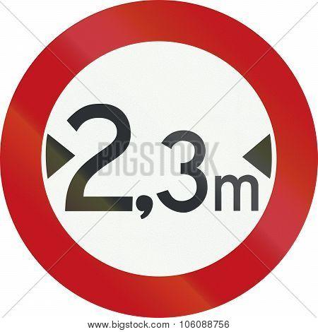 A Dutch Prohibition Sign - Width Limit