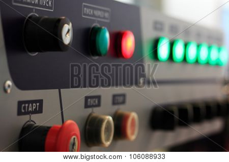 Control Panel Of Manufacturing Line
