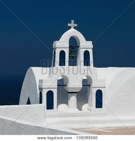 White Churche In Santorini