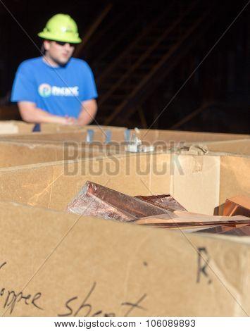 Recycling Copper Sheet.