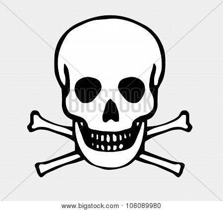 Vector skull and bones