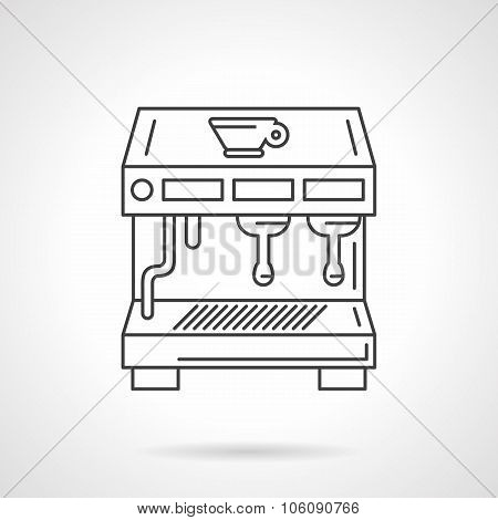 Flat thin line coffee shop equipment vector icon