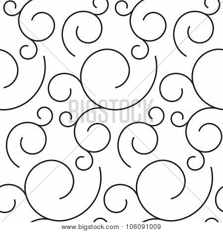 Floral ornate stripped seamless pattern.