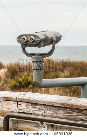 Binoculars on Overlook at Beach