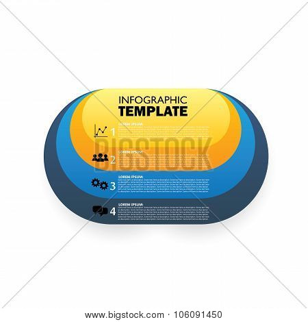 Vector Oval Infographic Template For Displaying Options, Choices, Steps
