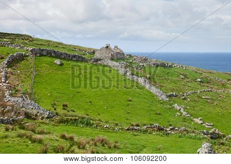Abandoned Irish Stone Cottage In Gweedore Ireland