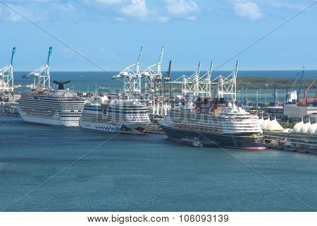 Miami, Florida Cruise Ship Terminal