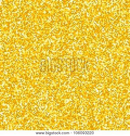 Pixel Gold Glitter Background Eps8 Vector