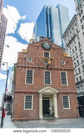 Old Boston State House In Boston, Ma