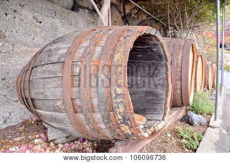 Wooden Wine Barrel