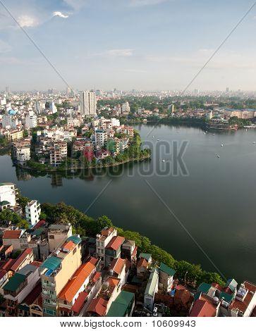 Cityscape Of Hanoi In Vietnam