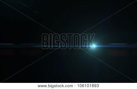 Light flare or glare.