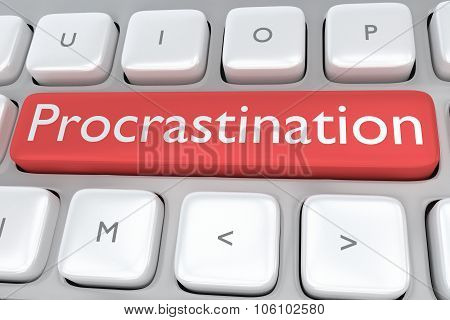 Procrastination Button Concept