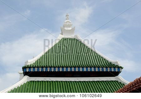 Roof detail of Kampung Kling Mosque at Malacca, Malaysia