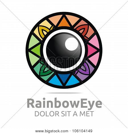 Rainbow Eye Logo